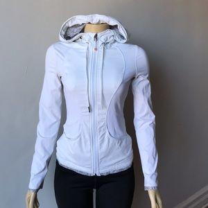 Lululemon White Hoodie Jacket Size 2